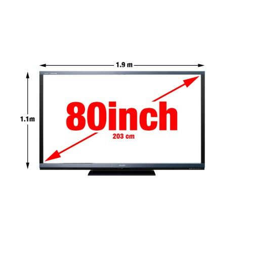 80 inch TV Screen hire.