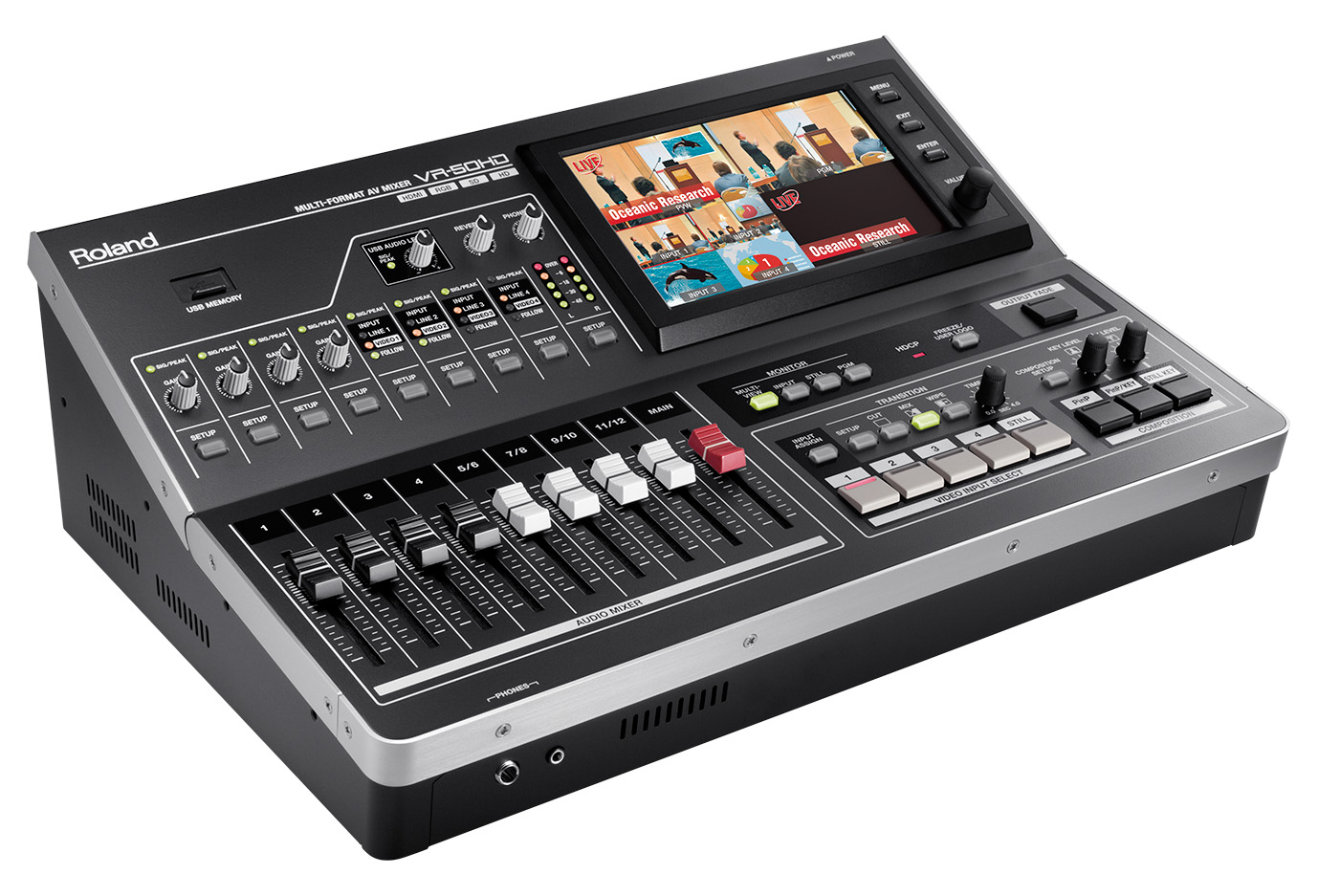Roland Vr 50hd Audio Vision Mixer Event Equipment