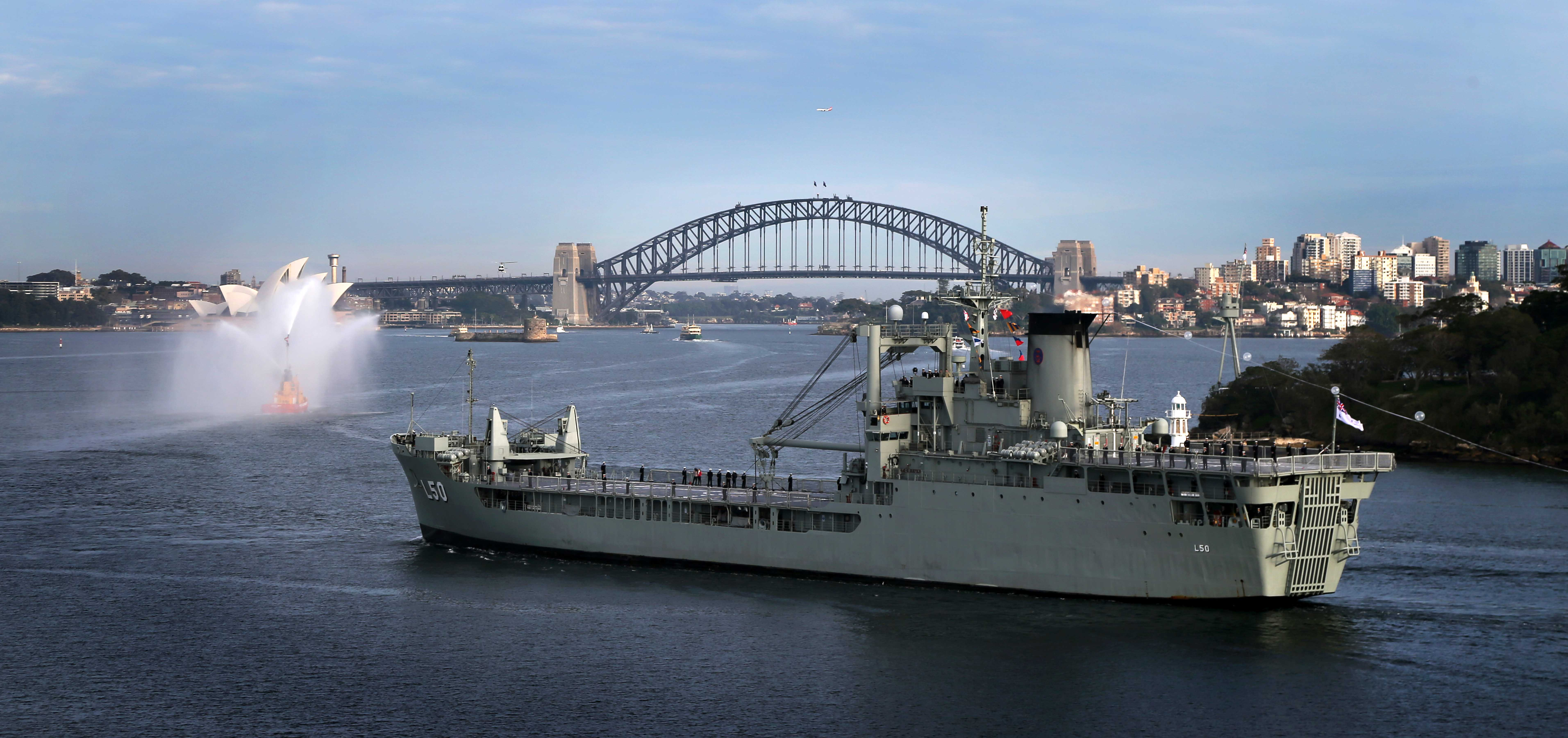 HMA Ships Task Group entry into Sydney