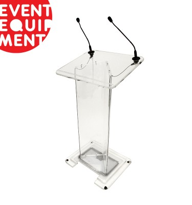 Clear Lectern Hire