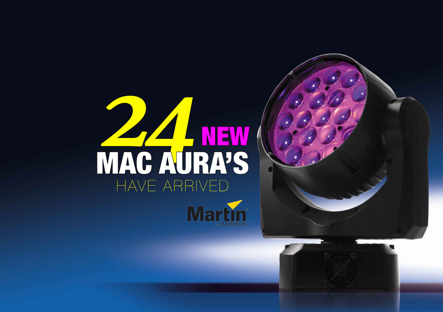 We have 24 new MAC Aura LED lights for hire