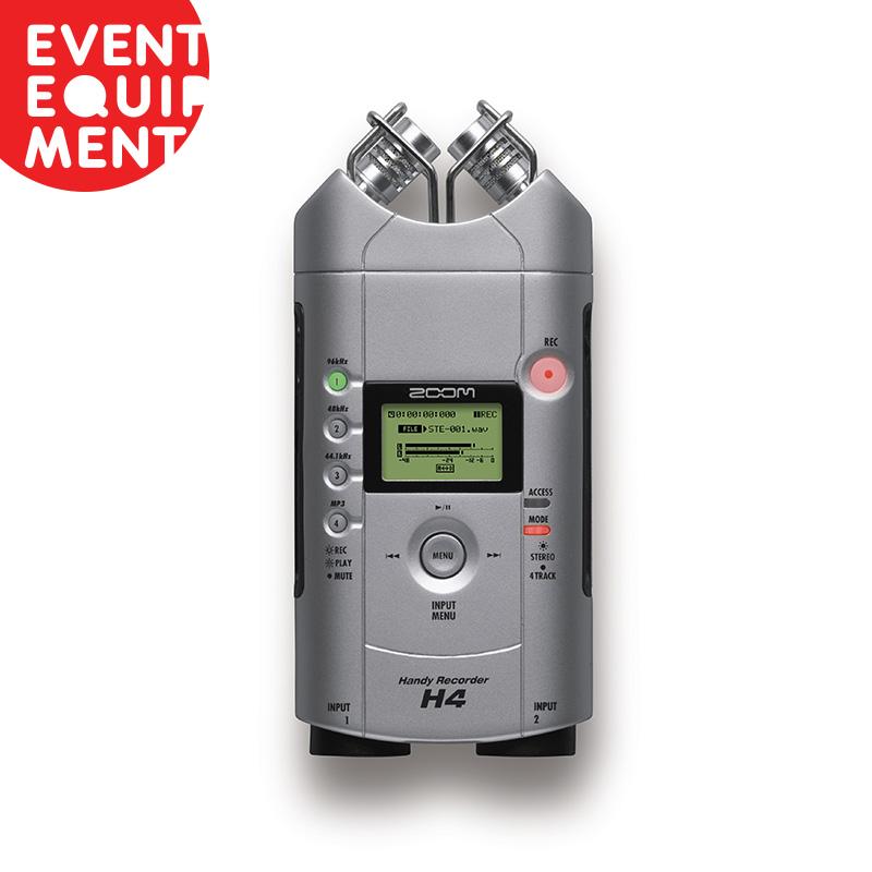 Zoom H4 Digital Audio Recorder Hire Event Equipment